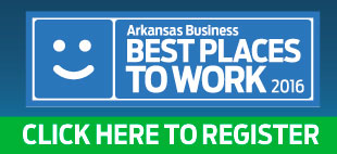"Register now for the 2016 ""Best Places to Work in Arkansas"" program."