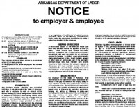 ARKANSAS DOL ISSUES NEW MANDATORY NOTICE POSTER