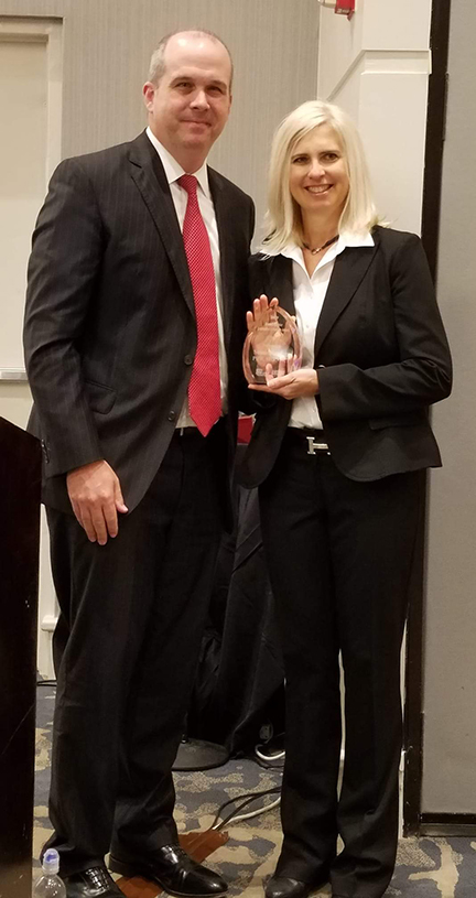 Susan Meadors received the 2018 Russell Gunter Legislative Advocacy Award