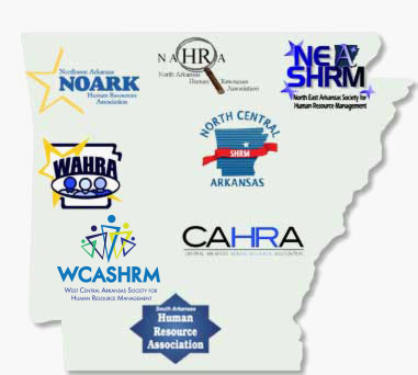 Map of Arkansas' SHRM Chapters
