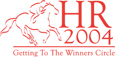 "HR2004 Logo: ""Getting to the Winners Circle"""