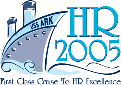 "HR2005 Logo: ""First Class Cruise to HR Excellence"""