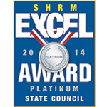 ARSHRM earned the SHRM Excel Platinum award in 2014